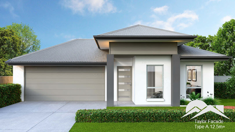 Taylor Facade, 12.5m+ Frontage, Type A
